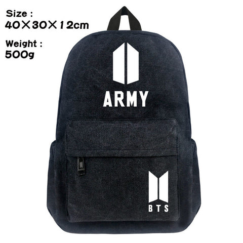 New BTS School Backpack Student Bookbag Cosplay Black Unisex Shoulder Laptop Travel Bags Boy Girl Gift anime-bar Store 1
