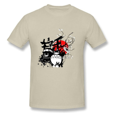 New Brand Men T Shirts Customized Japan Spirits Shirts Anime Totoro Short Sleeve Adult Clothing Plus Size Radiance SS Store 1