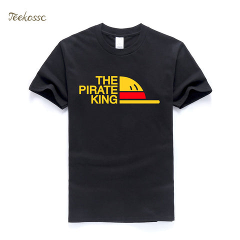 New Brand One Piece T-Shirt Men The Pirate King T Shirt Mens Luffy Tshirt Summer Tees Japanese Anime Cotton Short Sleeve Men's coolmack Store 1