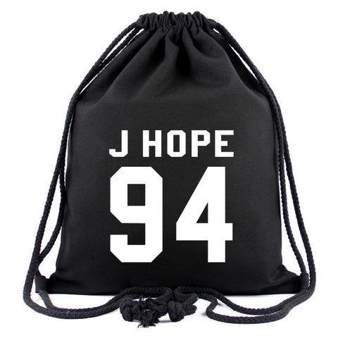 ... New Canvas Drawstring Bags For Women BTS Cartoon Backpack Fashion  Shopping Bags School Bags For Teenage ...