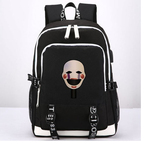 New Game Five Nights at Freddy's Backpack School Bags External USB Charge Headset port Anime Laptop Travel Shoulder Bags anime-bar Store 1