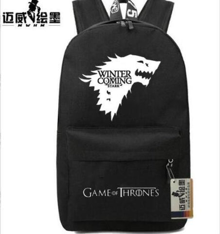 New Game of Thrones Anime Ice and Fire Backpack Children Travel bag women school bag men teenagers shoulder bag Shop2882156 Store 1