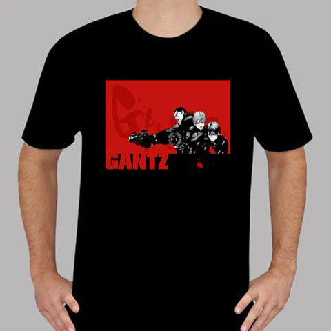 New Gantz Anime Japan Action Cartoon Men's Black T-Shirt Size S To 3XL Mans Unique Cotton Short Sleeves O-Neck T Shirt  1
