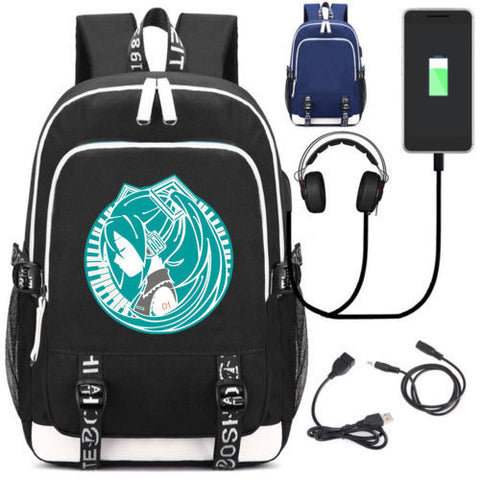 5295c385c1 New Japanese Anime Backpack Otaku Hatsune Miku Mikusama School Bags Bookbag  External USB Charge Bag Shoulder