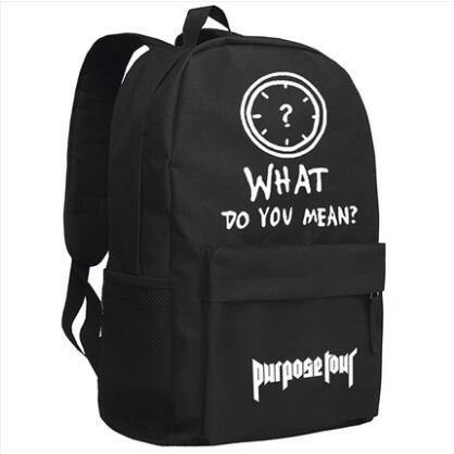 New Justin Bieber purpose Backpack Cosplay Cartoon Bag Luminous Anime Oxford Schoolbag Anime Costumes Store 1