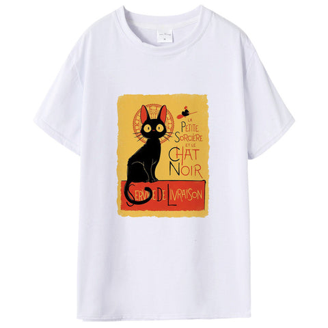 New Men Studio Ghibli Neighbour Totoro Ride The Cat Bus Shirt Japanese Anime Caybus Shirt Summer Casual White Tops Male Clothes Shop3857095 Store 1