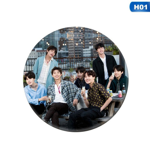 New Mode Style Hot BTS Bangtan Boys Badge Brooch Pin Accessories For Clothes Hat Backpack Decoration Women Man Cool Gift A hundred changed Girl Accessories Store 1