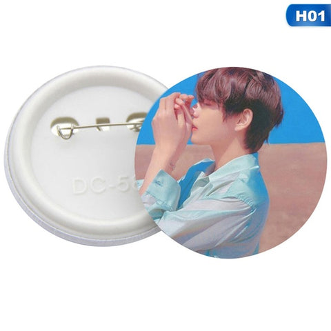 New Mode Style Korean BTS Boys Album LOVE YOURSELF Tear Brooch Pin Badge Accessories For Clothes Hat Backpack Decoration Cool A hundred changed Girl Accessories Store 1
