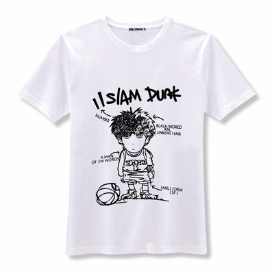 New SLAM DUNK Rukawa Kaede Cosplay T-shirt Japan Anime men T Shirt unisex Summer cotton Tees BlueDream Anime Store 1