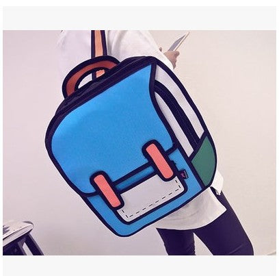 New Second Space Creative Japan Element 3D Shoulder Bag Backpack Tide Female Bag Fashion Student Backpack . Shenzhen Silverdream co.,Limited 1
