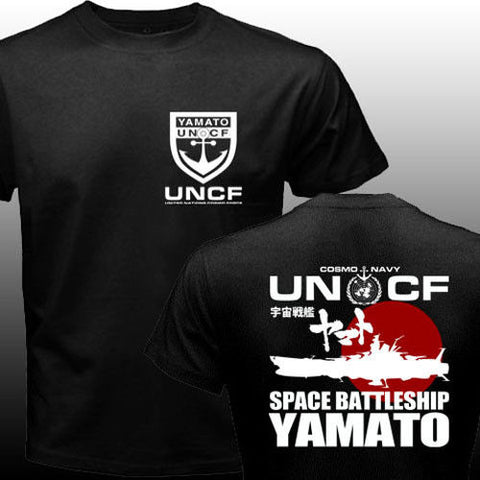 New Space Battleship Yamato Star Blazers UNCF Navy Japan Manga Anime T-shirt Mens Tees Shirt 100% Cotton Tshirt Adults S-3XL Professional Print Clothing CO.,LTD 1