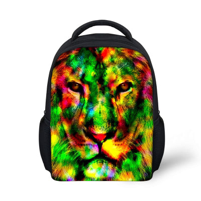 c8c68592dcb5 ... Novelty Gifts Owl Print Schoolbags for Boys Cool Animal Crazy Horse  Kindergarten Children School Bags Kids ...
