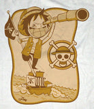 PREMIUM Custom Design & Drawn One Piece Chib Monkey D Luffy Sail T-Shirt Tee - Animetee - 2