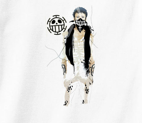 One Piece Trafalgar Law Tattoo logo heart pirates anime manga T-Shirt - Animetee - 1