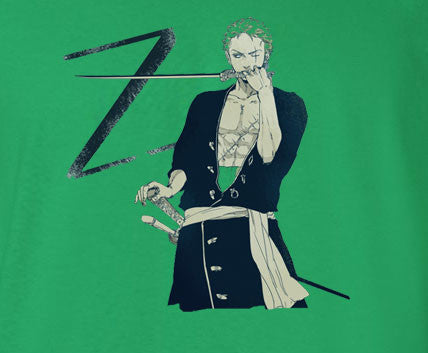 One Piece Z for Zoro Green Hair Green T-Shirt - Animetee - 1