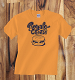 Trendy Pop Culture Pulp Fiction Royale with Cheese tee t-shirt tshirt Toddler Youth Adult Unisex Ladies Female Orange - Animetee - 1