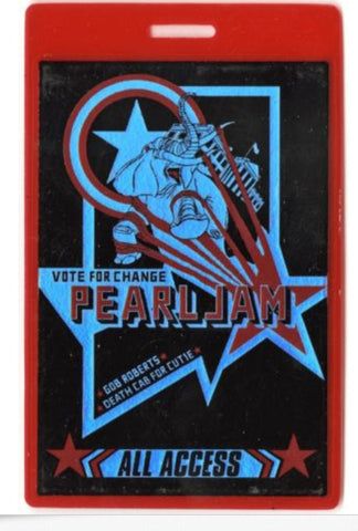 Pearl Jam ALL ACCESS 2004 Laminated Backstage Pass Vote for Change Tour w/ Gob R - Animetee