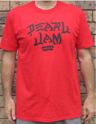 Officially Licensed Pearl Jam Destroy Licensed Gildan Merchandise Red - Animetee
