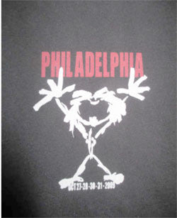 PEARL JAM Local CREW PHILADELPHIA Oct 27-28-30-31 Concert Tour (LG) T-Shirt - Animetee - 1