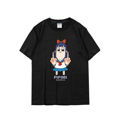 POP TEAM EPIC T-shirt Japanese Anime T Shirts Fashion Cotton Short Sleeve Tees tops Costumes/Accessories Store 1