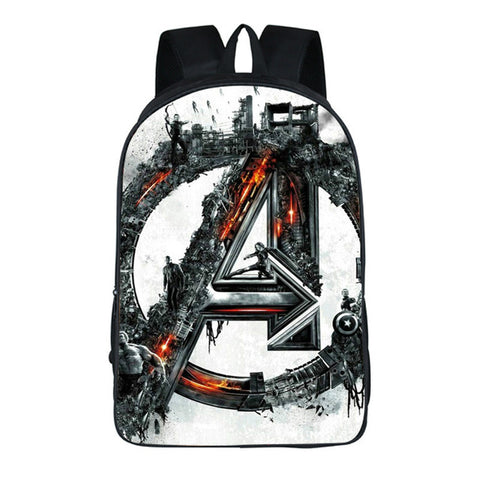 Pacento Designer The Avengers Backpack School Bags Boy Bags Shield Captain  America Kids Backpack Fashion Leisure