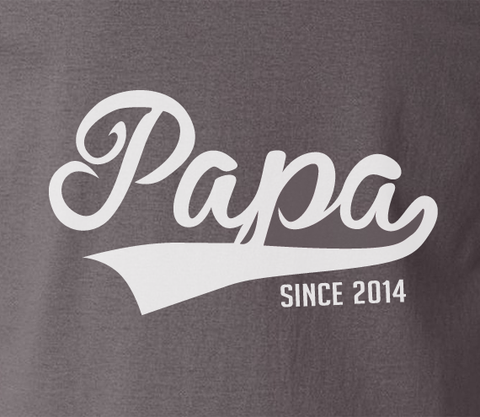 Trendy Pop Culture dad daddy father Papa since 2010 2011 2012 2013 2014 2015 Tee T-Shirt Ladies Youth Adult Unisex - Animetee - 1