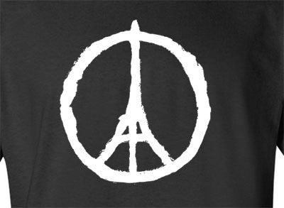 Black Paris Eiffel Peace Tee T-Shirt - Animetee - 1