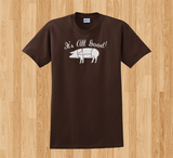 Trendy Pop Culture Meatetarian carnivore it's all good pig pork ribs bacon meat Tee T-Shirt Ladies Youth Adult Unisex - Animetee - 1