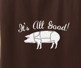 Trendy Pop Culture Meatetarian carnivore it's all good pig pork ribs bacon meat Tee T-Shirt Ladies Youth Adult Unisex - Animetee - 2