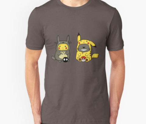 Totoro And Pokemon T Shirts Mens Onesies T Shirt - Animetee