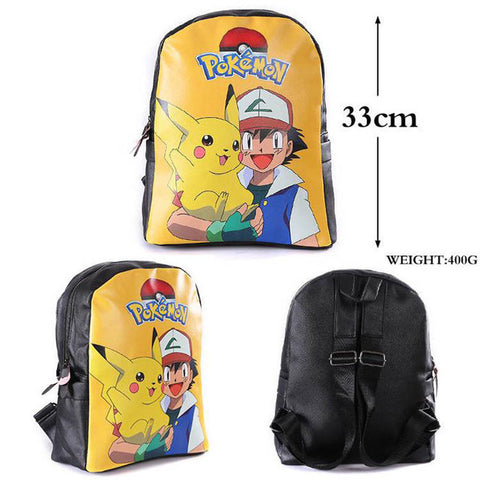 Pocket Monster Japanese Cartoon Anime My Neighbor Totoro Double-Shoulder backpack/Shool bag COS BAG MADE Store 1