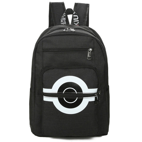 Pokemon Backpacks Children Anime Pikachu Canvas Schoolbag Poke Ball Shoulder Bags Boys Girls BookBags Rucksack Mochila BP0173 CHELLA Official Store 2