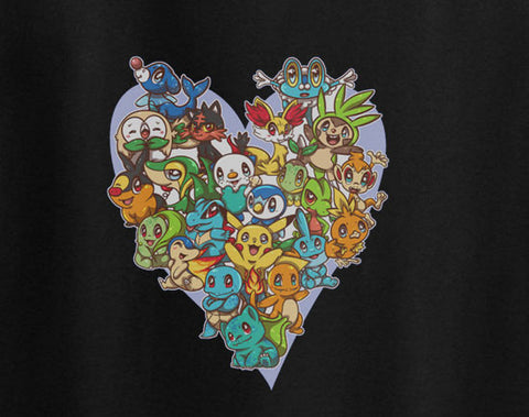 Pokemon Go gotta catch all Heart formation chibi form tee t-shirt - Animetee - 1