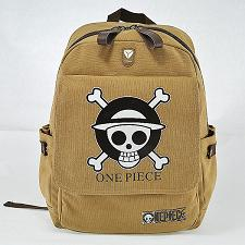 Preppy Schoolbag Teenager Canvas Rucksack Japanese Anime ONE PIECE Backpack Children's School Bag Skull Printing Bag Fairy Bag Store 1