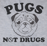Trendy Pop Culture Pugs Not drugs DARE marijuana weed cocaine ecastacy puppy  Tee T-Shirt Ladies Youth Adult Unisex - Animetee - 2