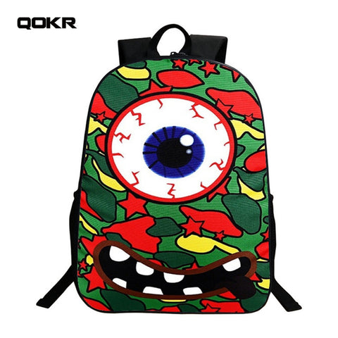 QOKR women school bags European style for 6-9 years old boys and girls students bookbag bts game over printing travel rugzak QOKR Official Store 1