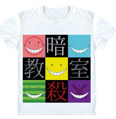 ROXINYUEHU Japanese Anime Assassination Classroom T Shirt Tops Fashion Men Women T-shirt S-2XL DT025 Zero distance fashion 1