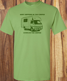 Trendy Pop Culture Hotter Topic What Happens in the Camper Vegas Stays in the Camper Tee t-shirt tshirt Unisex Ladies Light Green - Animetee - 1