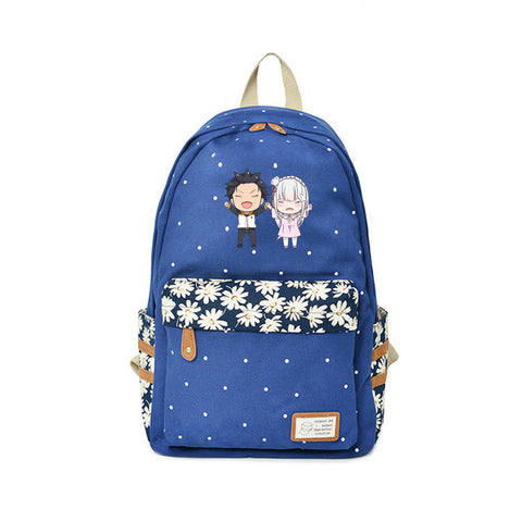 Re ZERO Starting Life in Another World Backpack Travel Bags point Kawaii Cat Anime Bags High Quality Japanese Cartoon Backpacks Global bags Store 1