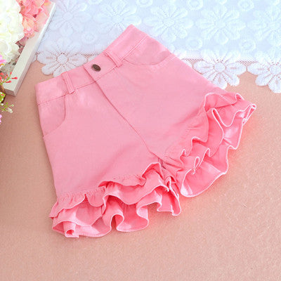 S-2XL Summer Japanese Women Candy Color Shorts Cute Kawaii Young Girl Bottoms Ruffles hem Sweet Princess Pink Oversize Mid waist Adomoe Official Store 1