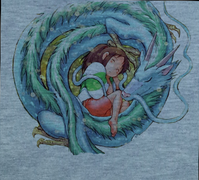 Soft Premium Quality Custom Spirited Away Chihiro and San Dragon Anime Manga Cosplay T-Shirt Tee Tshirt - Animetee - 2