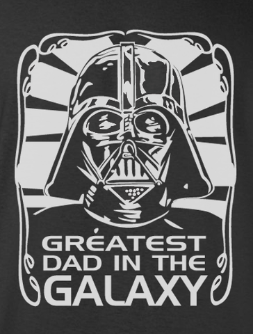 Trendy Pop Culture Hotter Topic Star Wars Funny Darth Vader Greatest Dad in the Galaxy Tee t-shirt tshirt Unisex Ladies Black - Animetee - 1