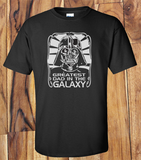 Trendy Pop Culture Hotter Topic Star Wars Funny Darth Vader Greatest Dad in the Galaxy Tee t-shirt tshirt Unisex Ladies Black - Animetee - 2