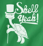 Trendy Pop Culture Turtle Hell Shell Yeah Hipster Punk Retro Novelty Tee t-shirt tshirt Unisex Ladies Irish Green - Animetee - 2