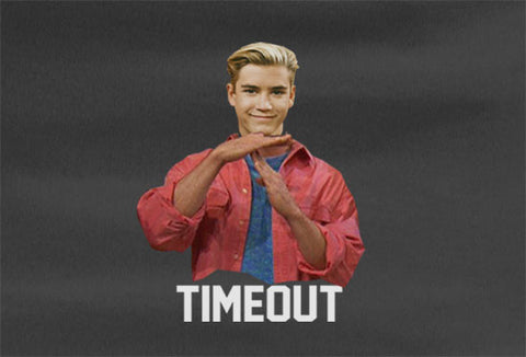 Saved by the Bell Zach Morris Timeout Time out T-Shirt tee - Animetee - 1