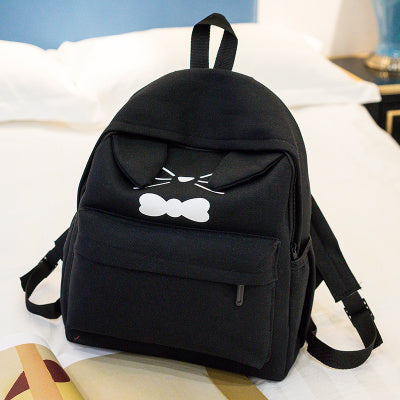 Schoolbag female cute female backpack Korean school style Japanese fresh cat student backpack Hangzhou Manxia Backpack Store 1