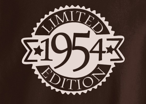 Vintage since All Original parts Limited Edition 1954 60 61 62 63 63 64 65 year old birithday Tshirt Tee T-Shirt - Animetee - 2