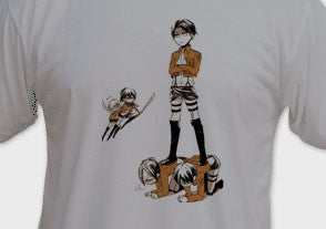 Shingeki No Kyojin Attack of Titans Tee T-Shirt - Animetee - 1