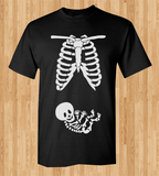 Trendy Pop Culture Maternity Leave pregnant pregnancy baby shower skeleton newborn baby Tee T-Shirt Ladies Youth Adult Unisex - Animetee - 1