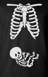 Trendy Pop Culture Maternity Leave pregnant pregnancy baby shower skeleton newborn baby Tee T-Shirt Ladies Youth Adult Unisex - Animetee - 2